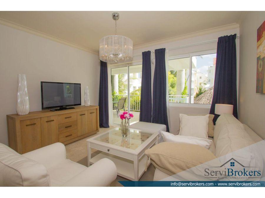apartamento con playa privada 2 hab punta cana