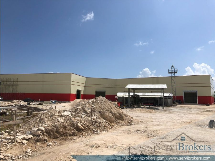 nave industrial logistica 452 m2 punta cana