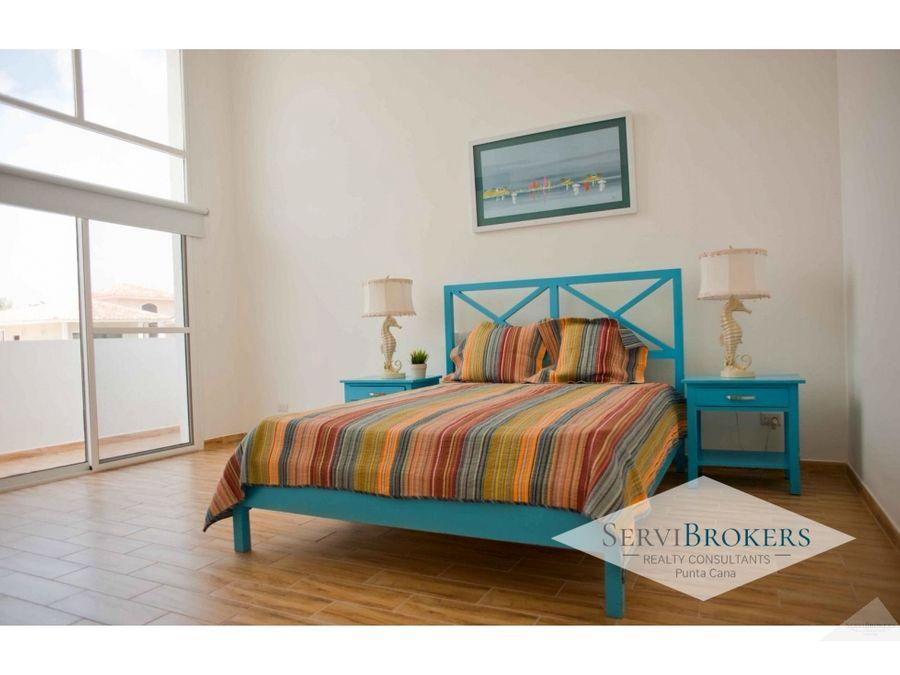 punta cana cocotal alquiler casa 3 habitaciones 3 banos