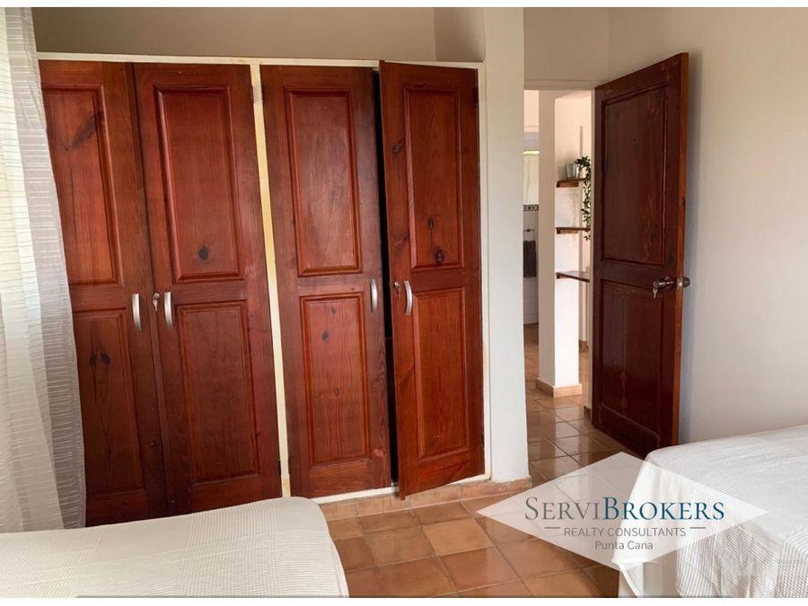 punta cana alquiler casa 2 habitaciones 2 banos