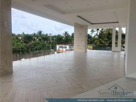 local alquiler 72 m2 32 m2 de terraza bavaro