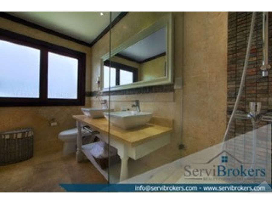 elegante villa 4 habitaciones 55 banos tortuga bay punta cana