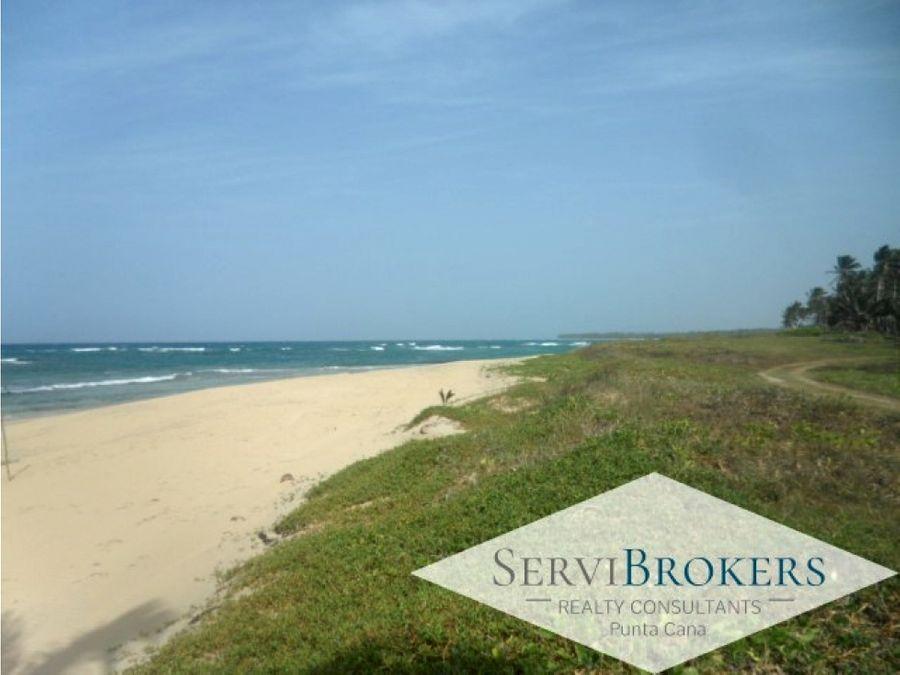 terreno playa la vacama punta cana 60000m2 con 500 de playa