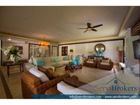 elegante villa 4 habitaciones con playa privada