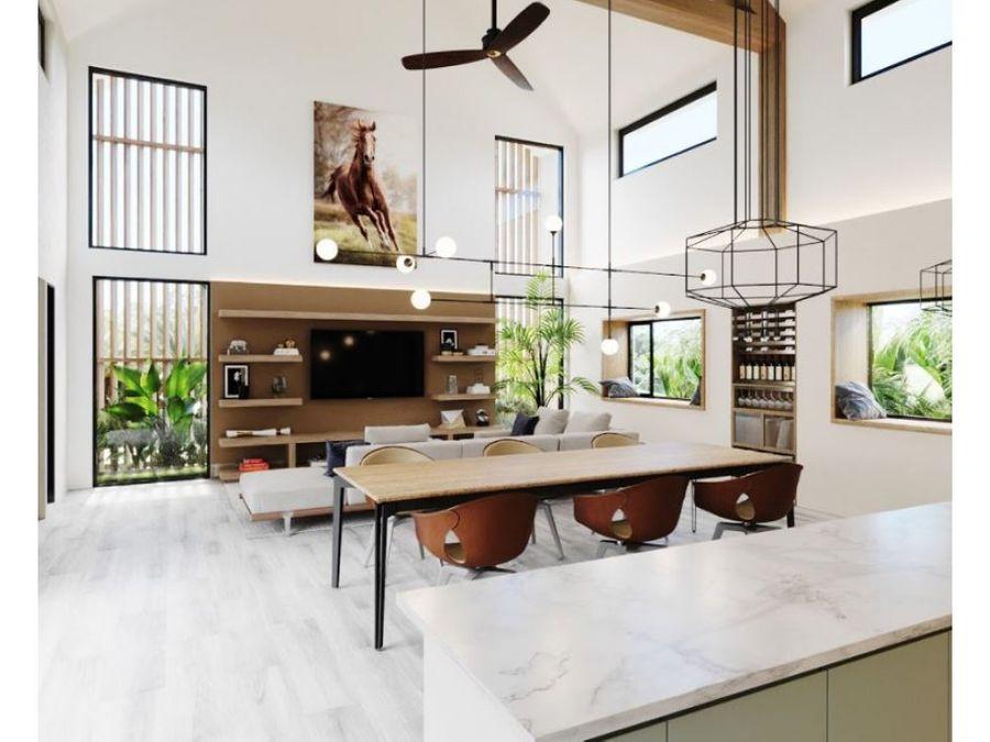 residencia ecuestre villa 3 habitaciones en venta punta cana