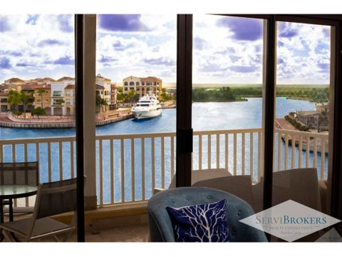 increible vista apartamento 1 hab fishing lodge marina punta cana