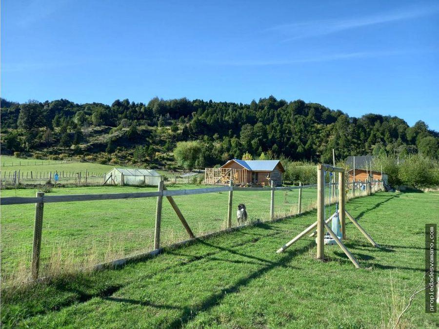 parcela de 5000 mt2 2 casas 1 cabana palena region de los lagos