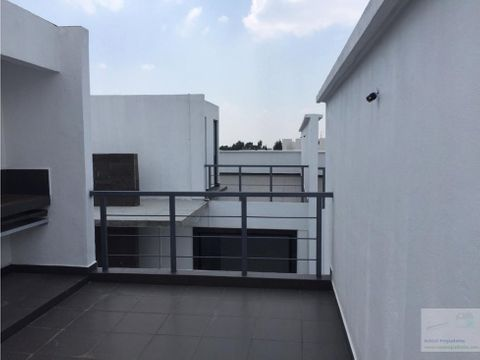 renta departamento con roof garden av juarez contadero