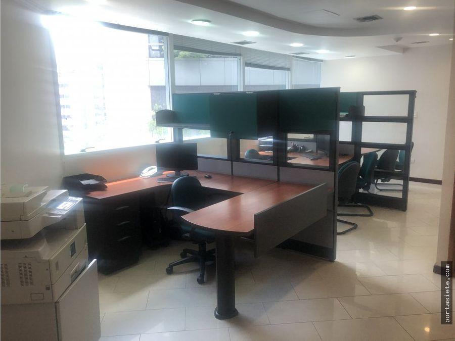 alquiler oficina amoblada en el rosal 80 mts