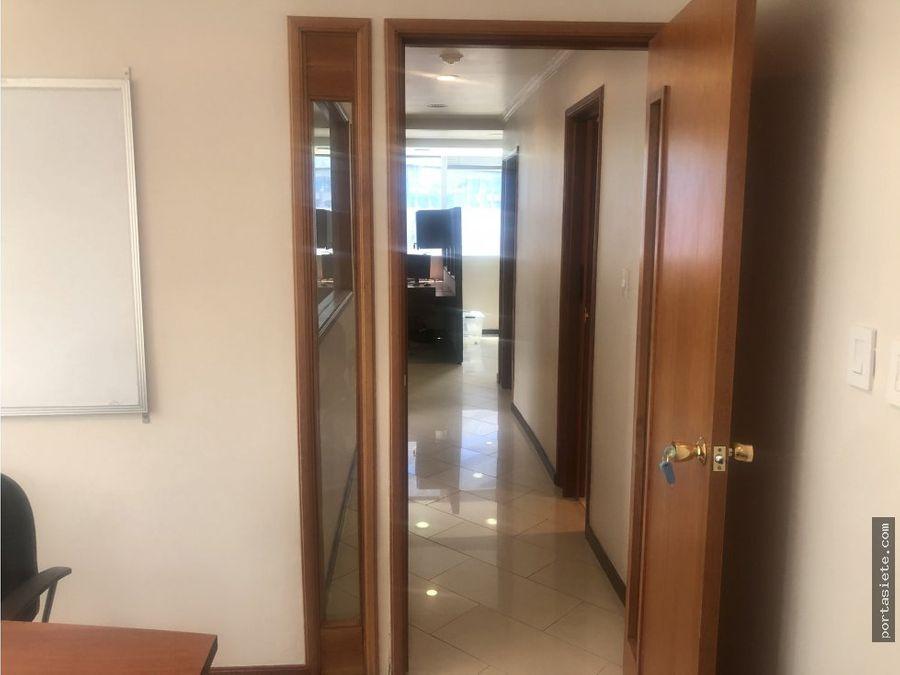portafolio siete alquila oficina amoblada en el rosal 80m2