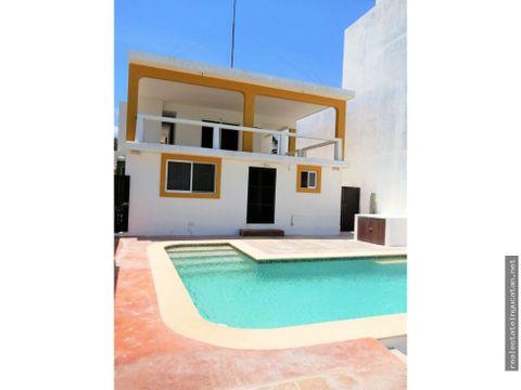 casa canario frente al mar de telchac progreso yucatan