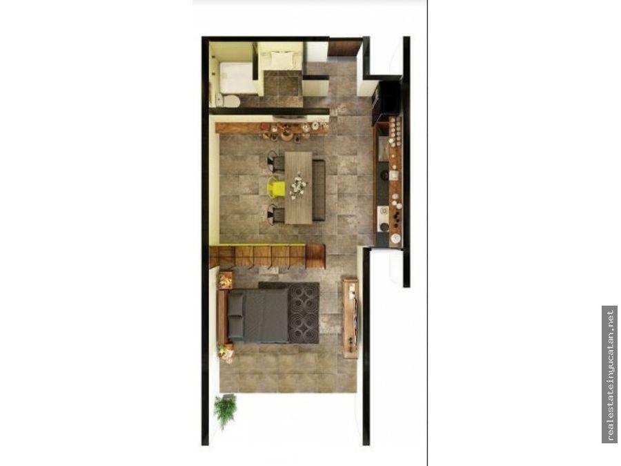 departamentos burea tipo loft en temozon mod 2