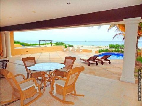 frente al mar lujosa casa los cocos en chicxulub