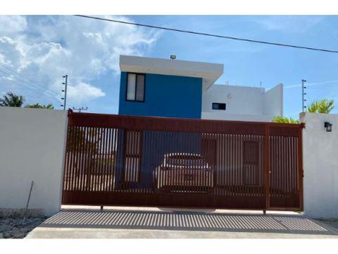 se renta hermosa casa en chicxulub a 150 mtrs del mar