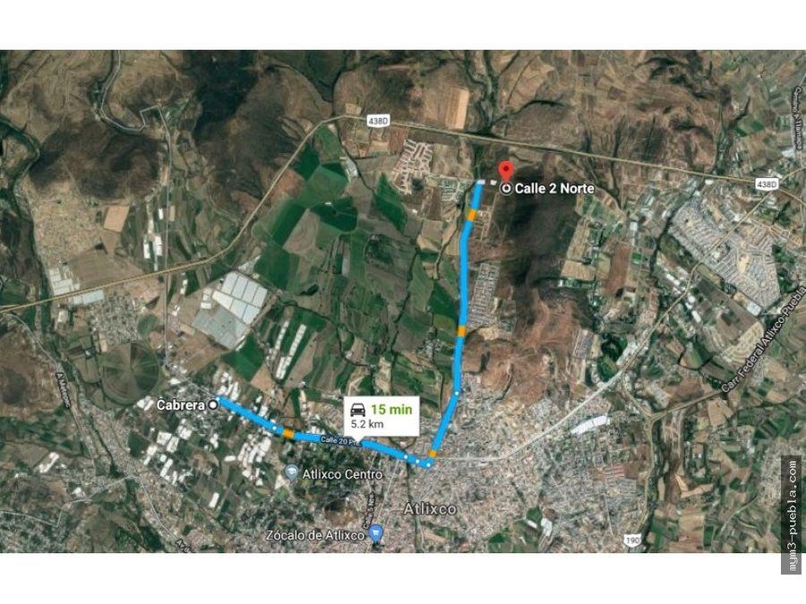 terreno de 43725 m2 en venta en atlixco puebla