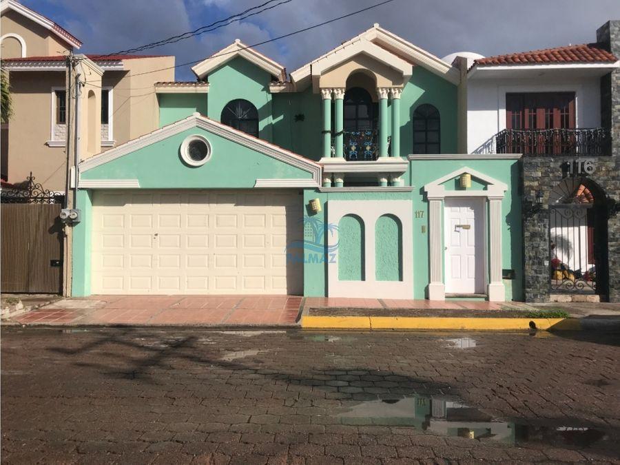 renta casa amueblada en lomas de mazatlan 4 recs 1 en planta baja