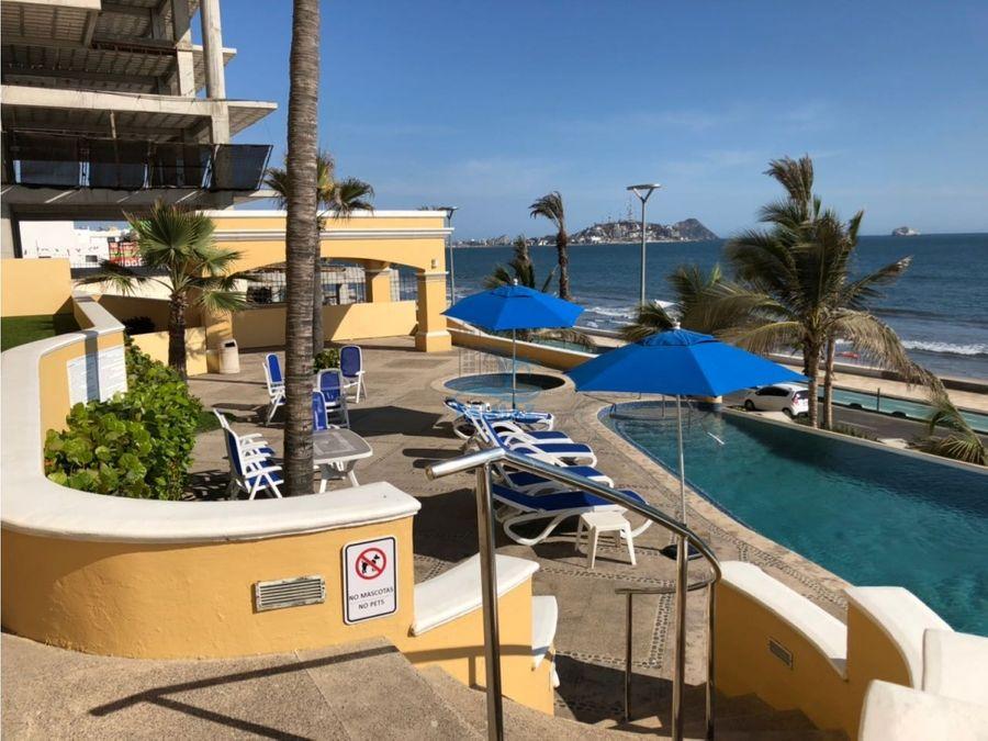 departamento en renta en mazatlan frente a playa