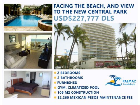 sale furnished apartment at mazatlan close beach