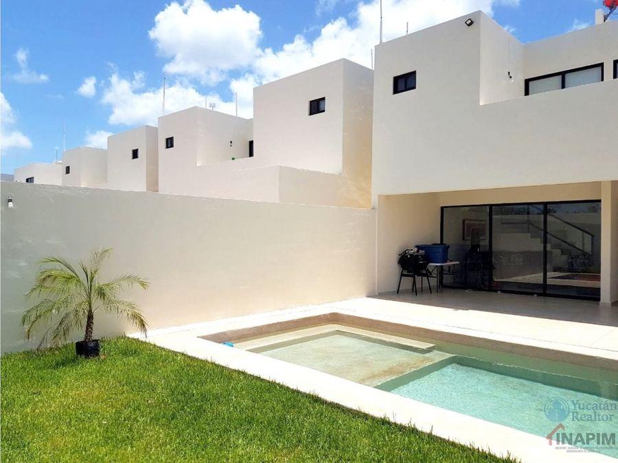 hermosa casa en venta en privada cerca del periferico de merida