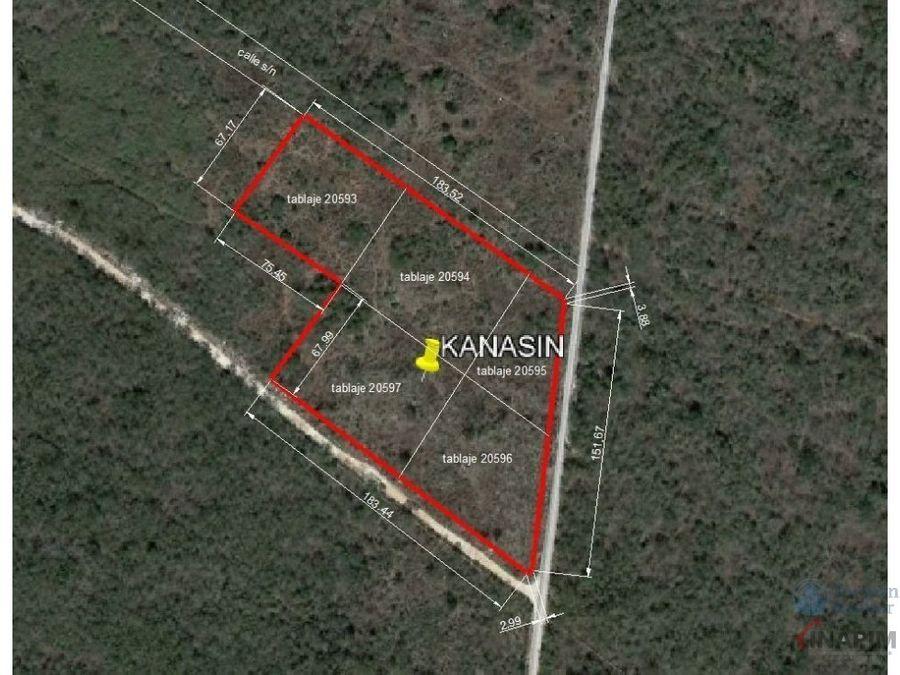 venta de terreno en zona comercial de kanasin