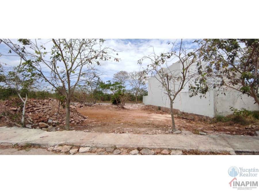 venta de terreno al norte de merida en zona de alta plusvalia cholul