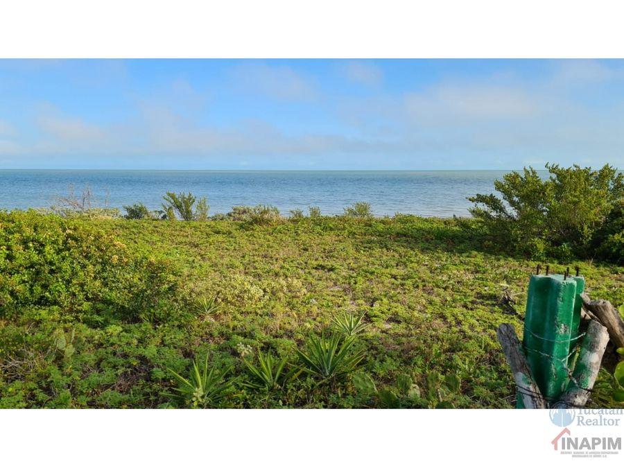 terreno en venta frente al mar en la playa de yucatan