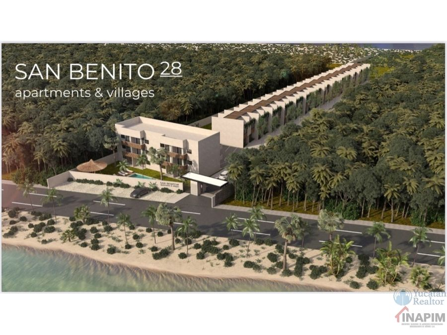 venta de villas en la playa san benito 28 yucatan