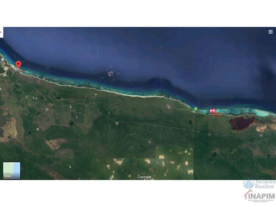 venta de terreno en el espectacular mar de mahahual
