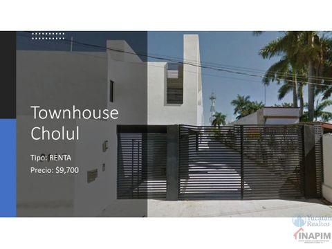 thown house en renta zona norte merida