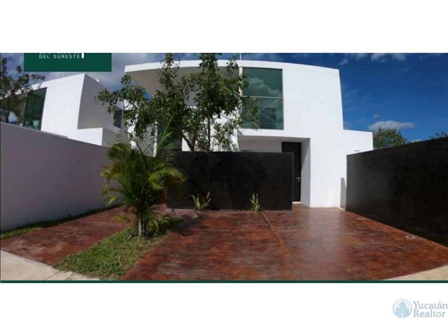 bonita casa en cholul en venta