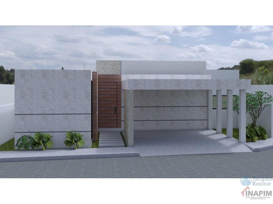 casa en venta en cholul modelo 25