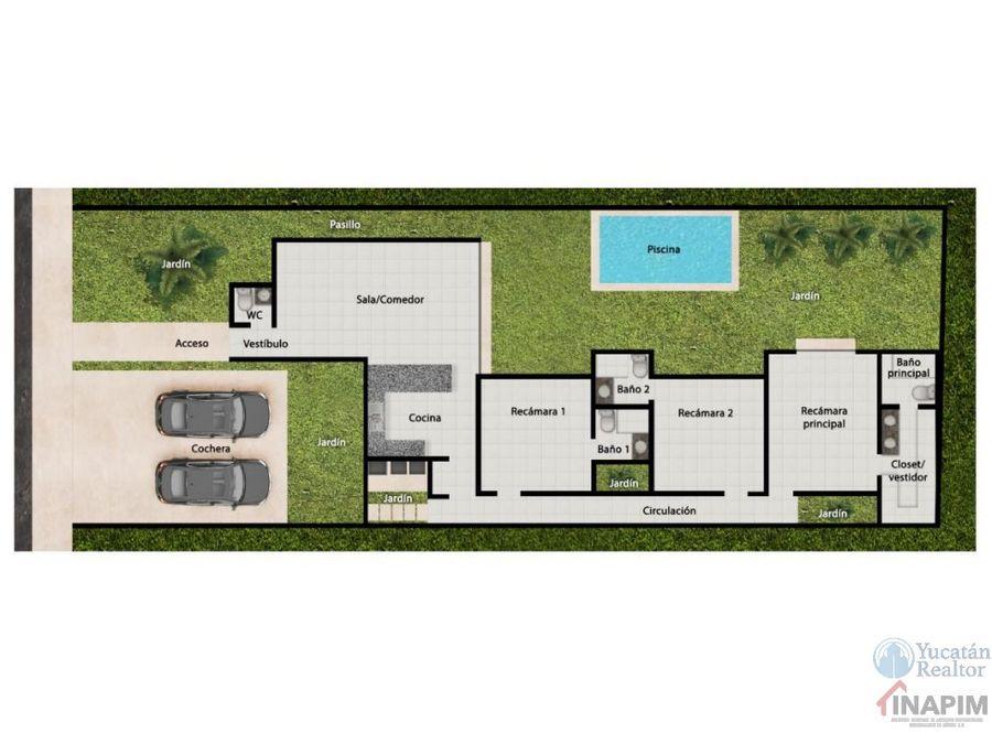 casa en venta al norte de merida en conkal