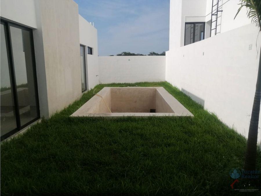 casa de una planta en privada cholul