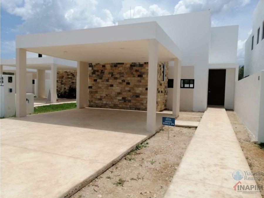 casa en venta en privada conkal