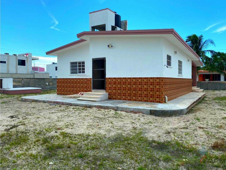 casa en venta en segunda fila playa de chicxulub puerto