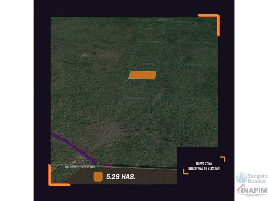 terreno en nueva zona industrial de yucatan