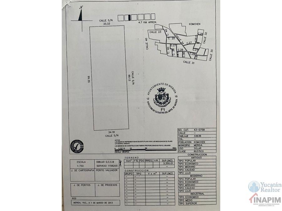 dos terrenos en venta en komchen yucatan