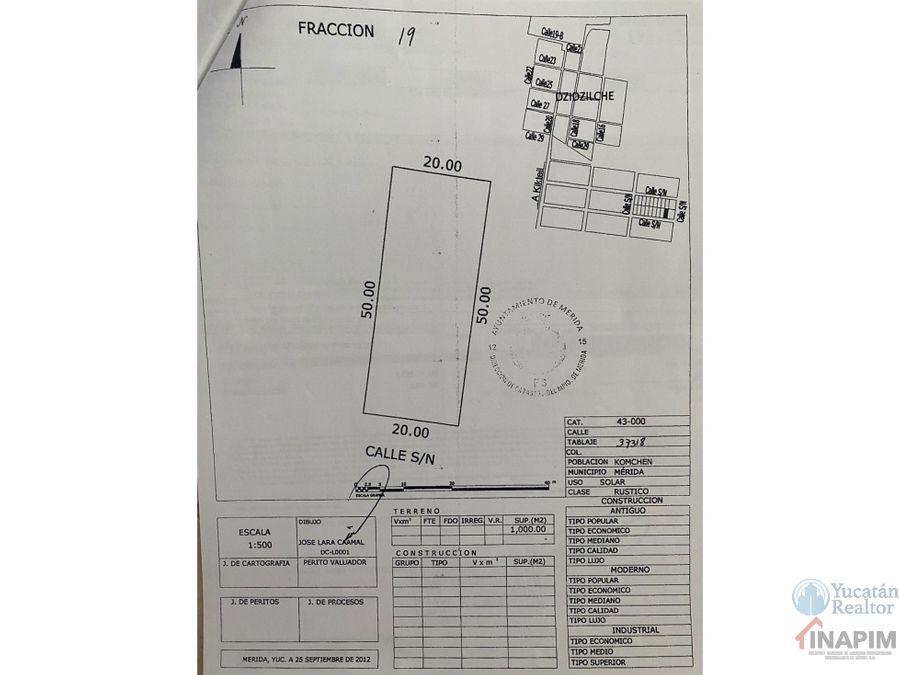 venta de terreno en komchen yucatan