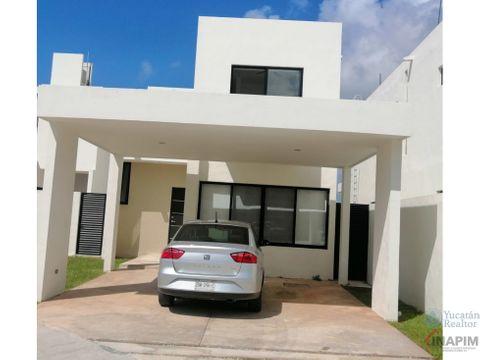 casa en renta en merida en zona norte en privada