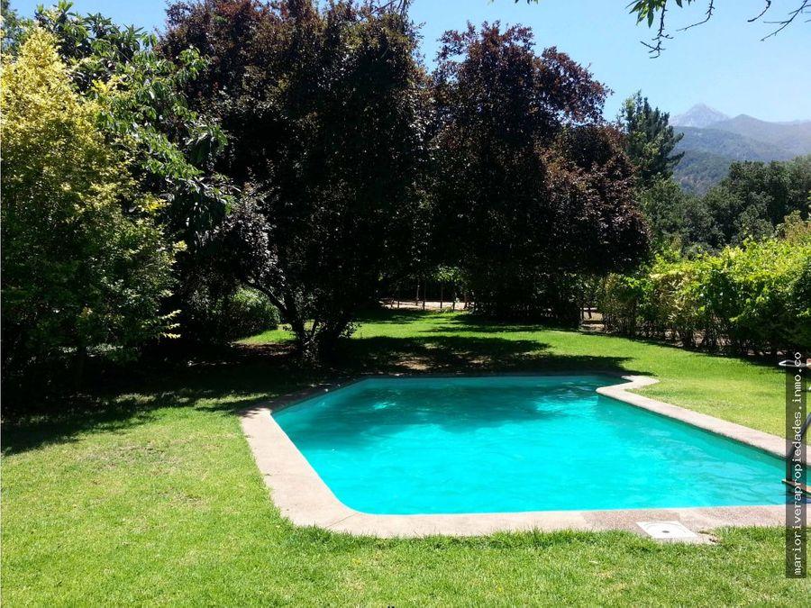 hermosa parcela olmue casa piscina y mas