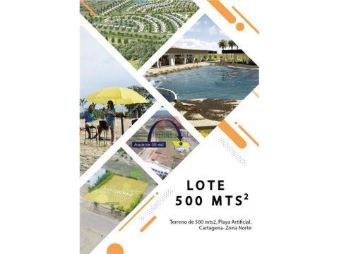 cartagena lote en venta zona norte