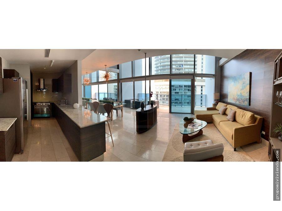 bonito apartamento amoblado en punta pacifica alquiler