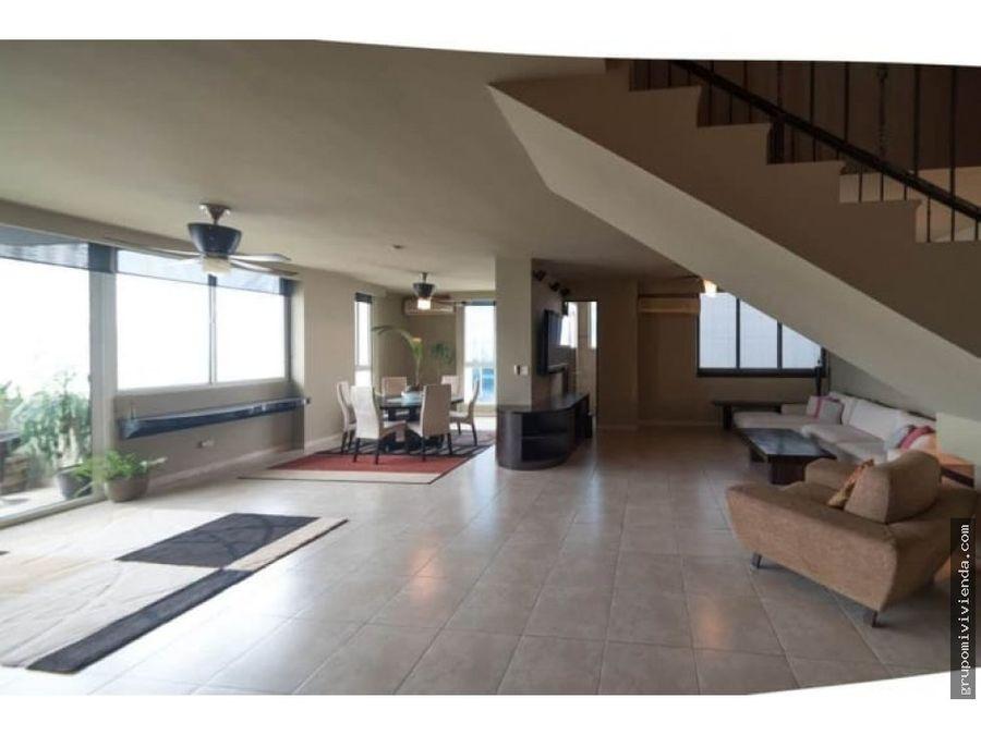 penthouse de 2 niveles en alquiler punta pacifica