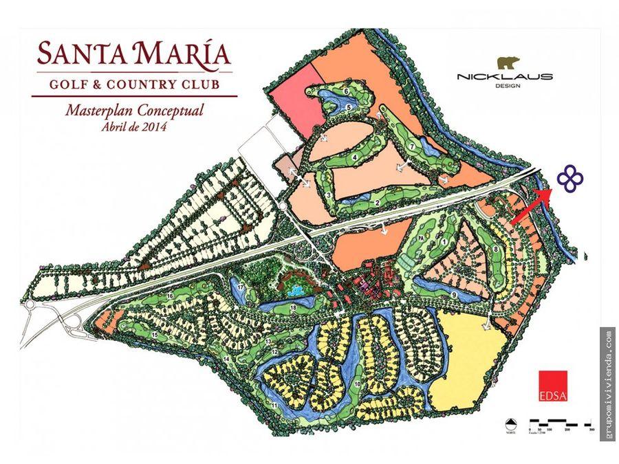 apartamento en santa maria golf country club venta