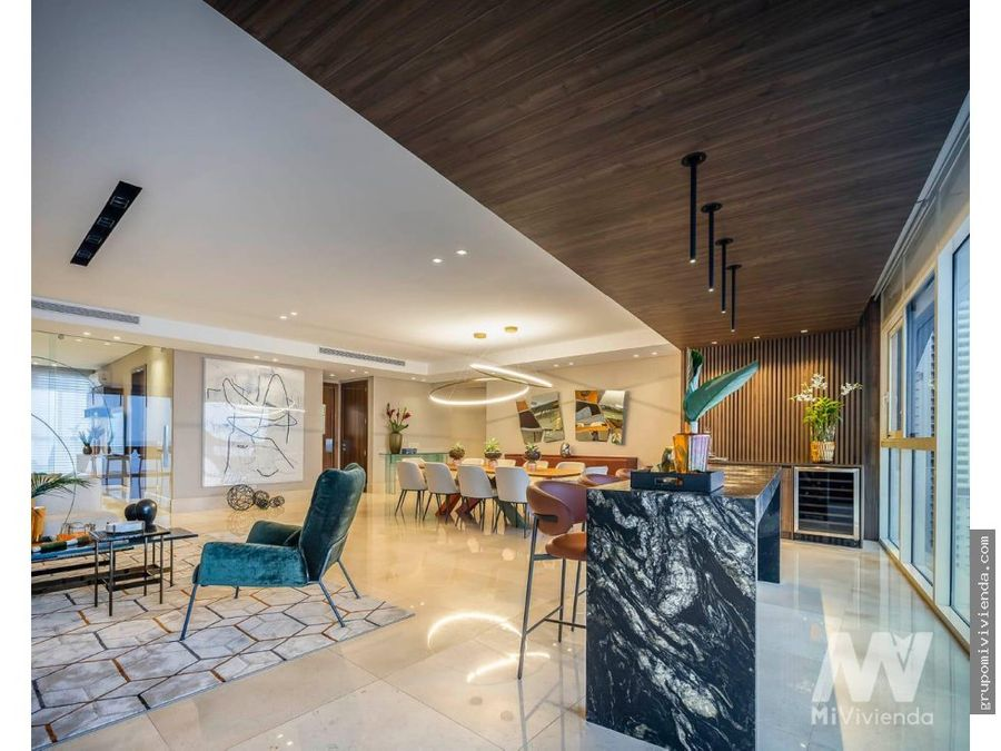 venta de espectacular apartamento en coco del mar totalmente amoblado