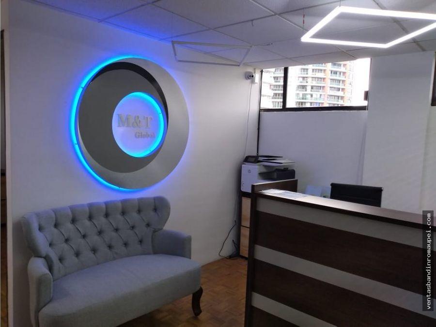 excelente oficina para 2 personas amueblada