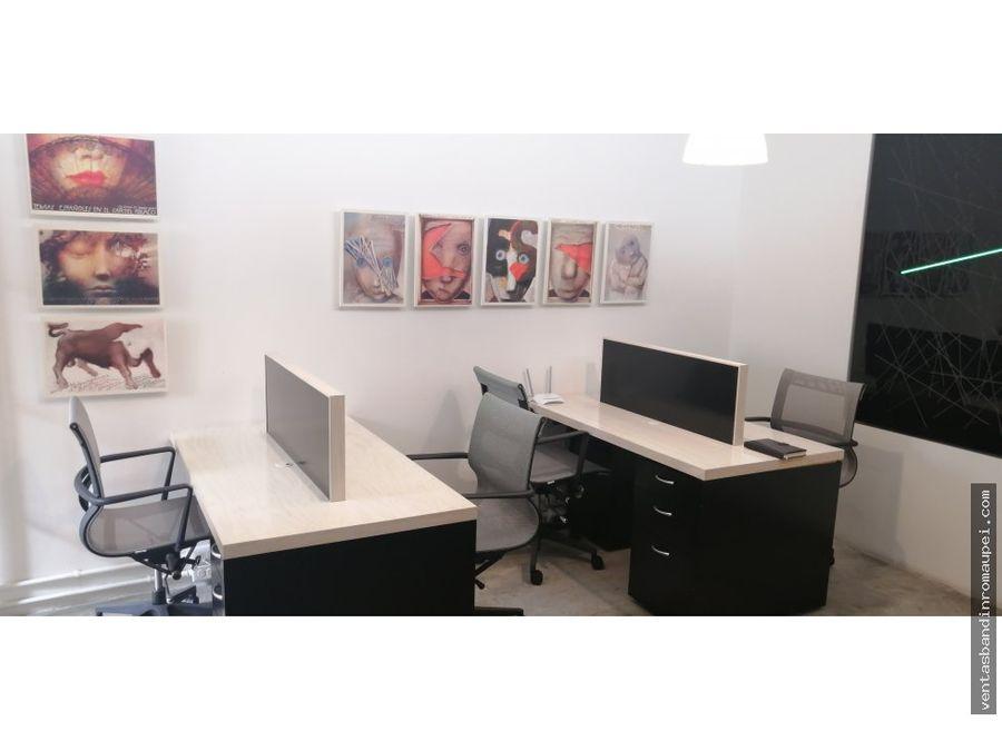 excelente oficina en lomas de chapultepec amueblada