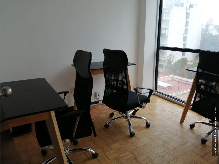 oficina para 3 personas amueblada todo incluido