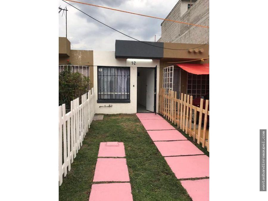 excelente casa remodelada 1 recamara en los heroes tecamac