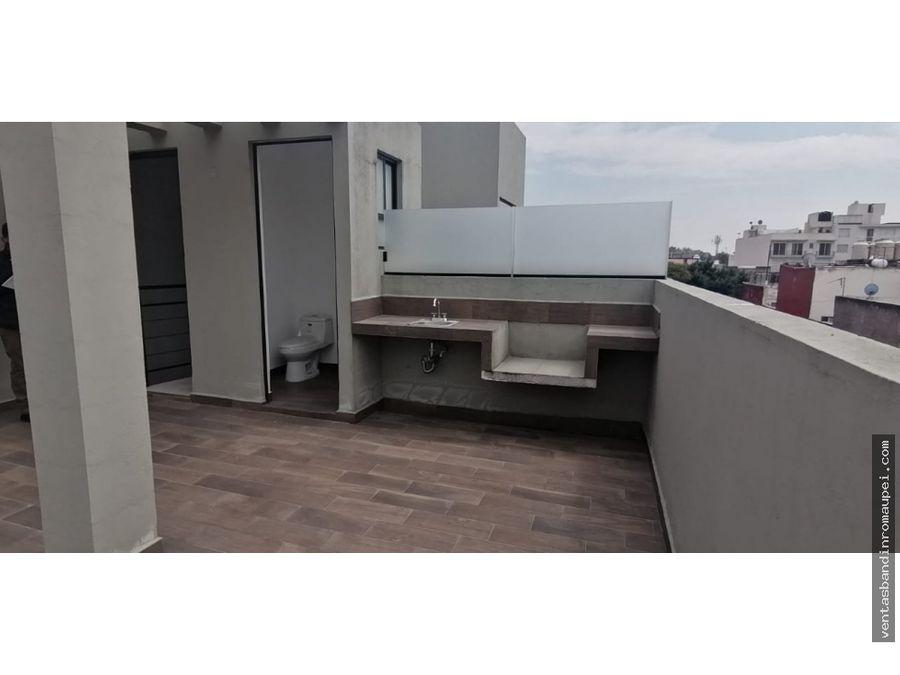 ultimo departamento con roof garden privado en la colonia narvarte